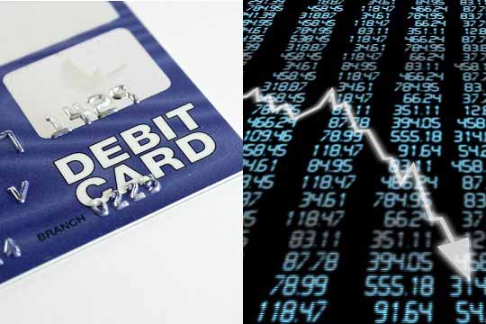 Debit card and stock market