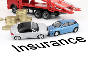 Car insurance depicted