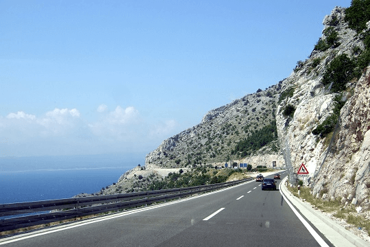 Croatian coast road