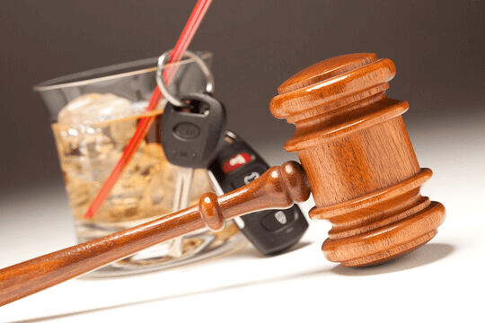 Gavel and keys