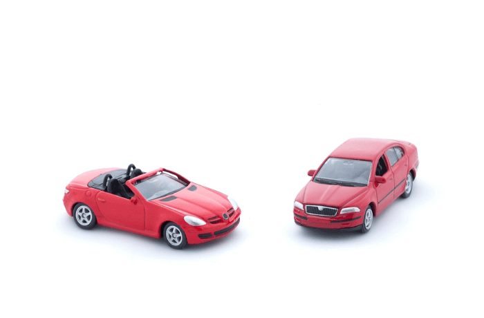 Two red toy cars
