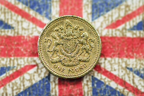Union Jack and Pound coin