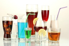 An assortment of alcoholic drinks